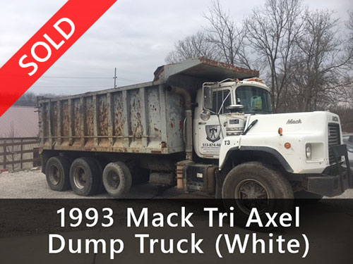 1993 Mack Tri Axle Dump Truck (White) (Sold)