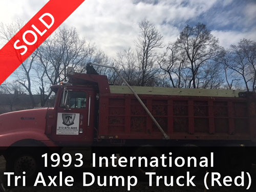 1993 International Tri Axle Dump Truck (Red)