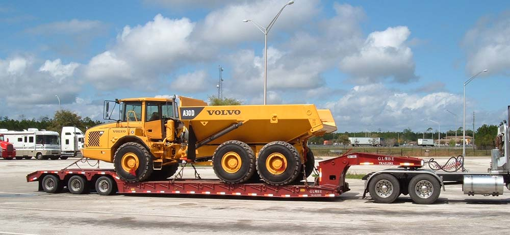 trucking, belly dump trucks, lowboy trailers, flatbed trailers, site development, demolition